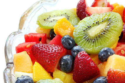 Seasonal Fruit Salad with Honey-Mint Lime Dressing – Warm ...