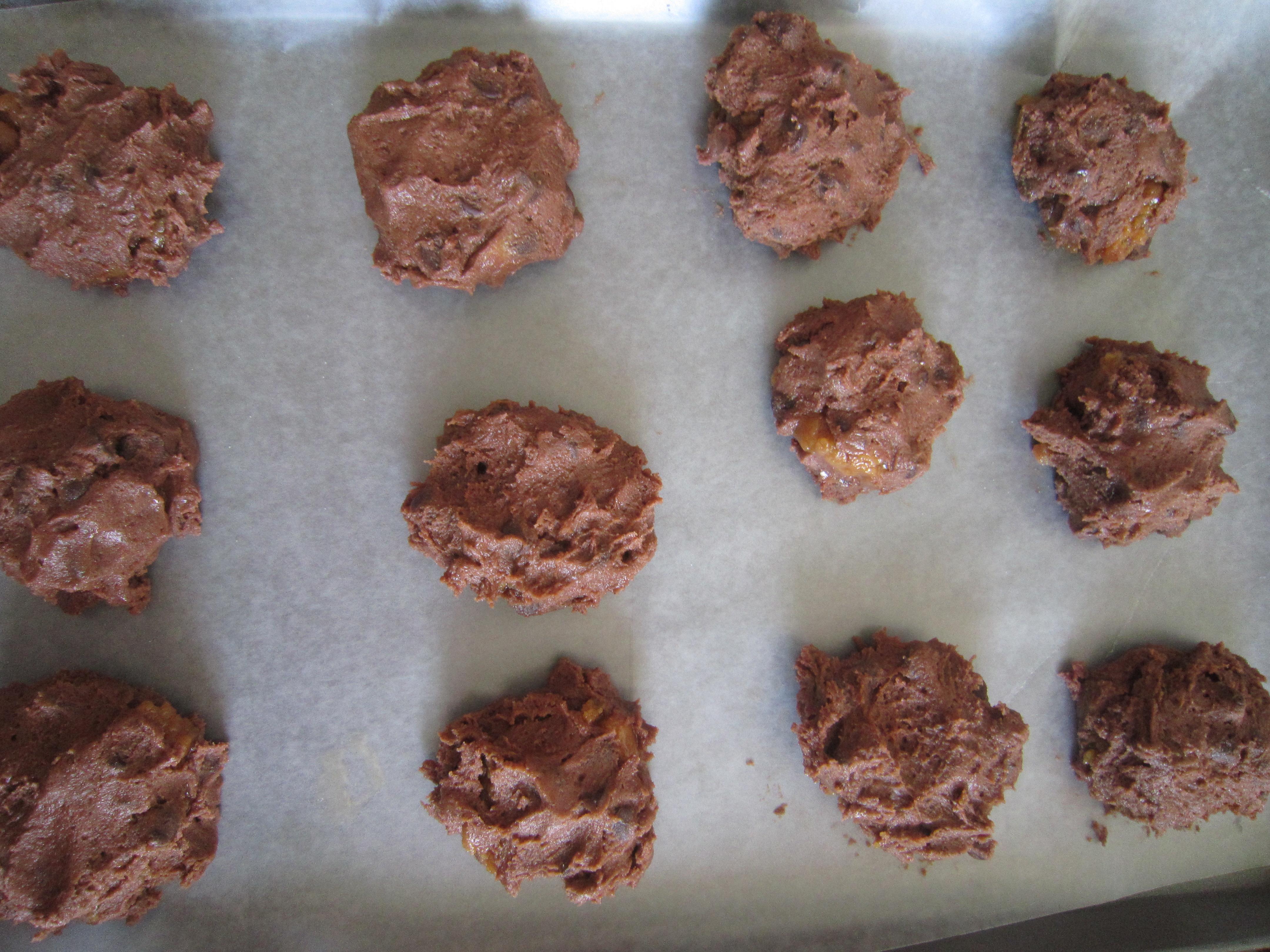 Chocolate Fudge Peanut Butter Stuffed Cookies. - Warm ...