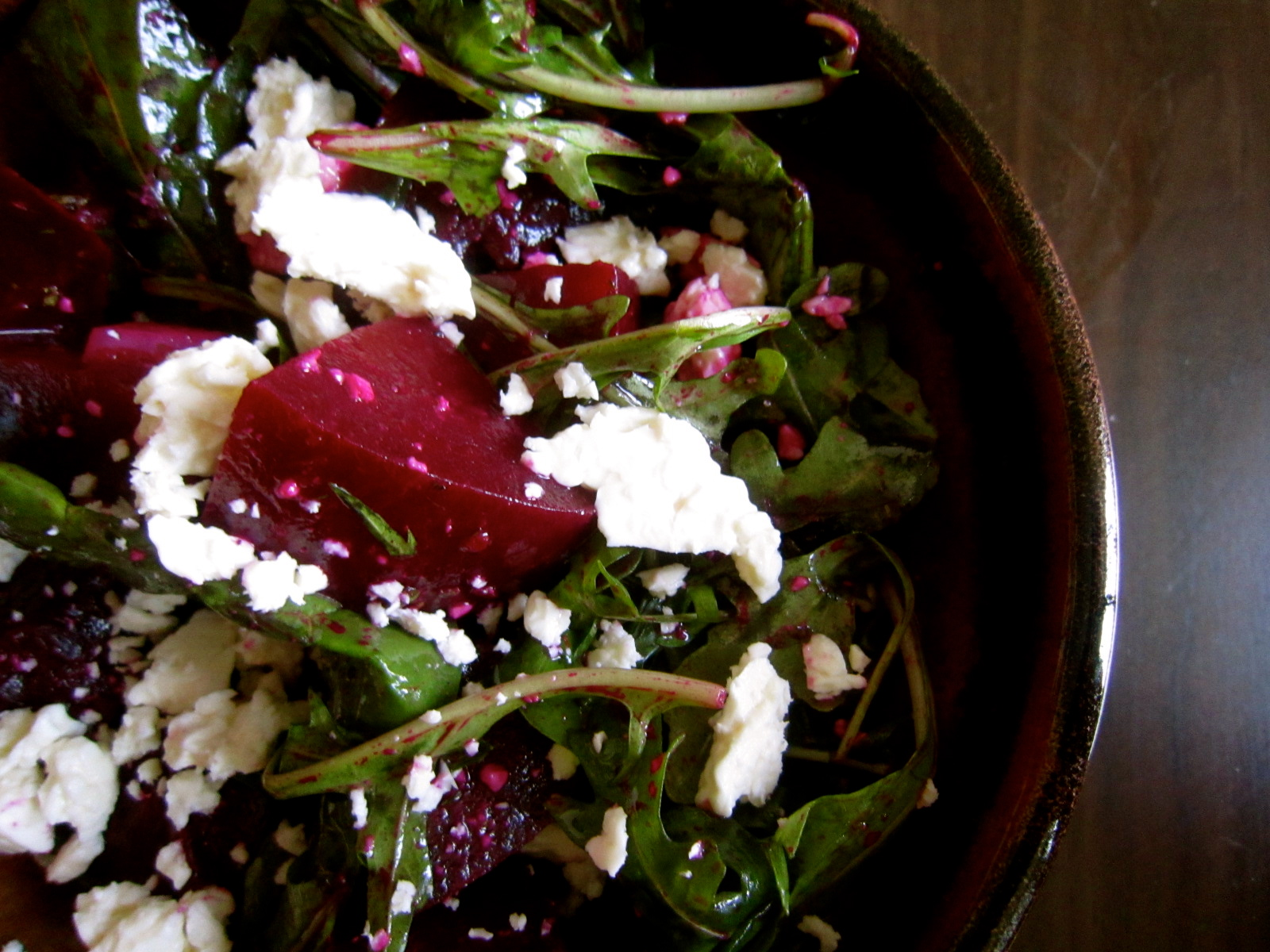 golden beet and millet spinach salad with herb dressing roasted beet ...