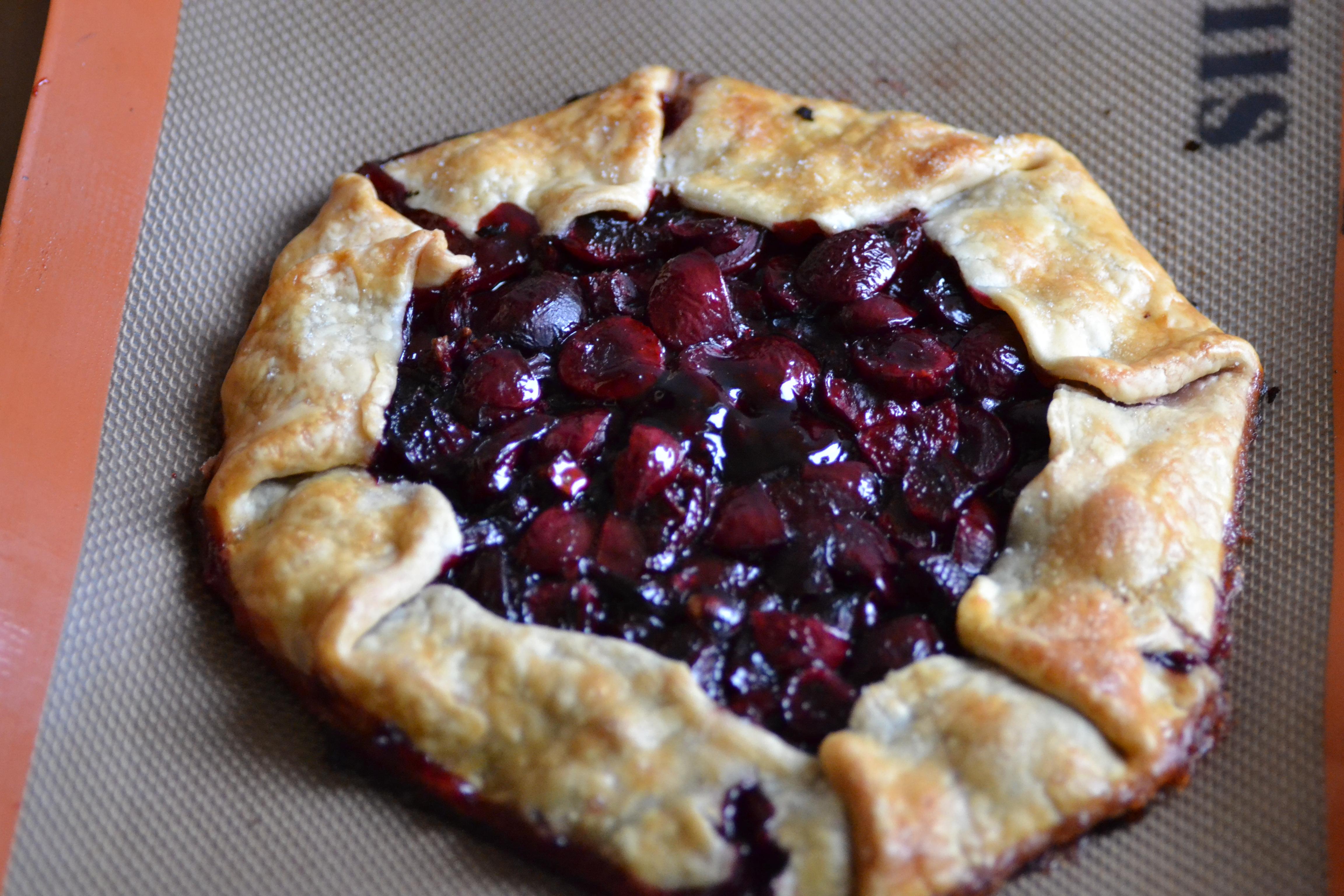Rustic Cherry Tart - Warm Vanilla Sugar