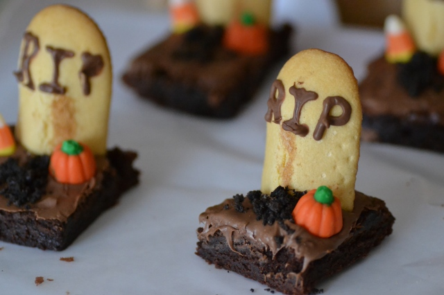 Gravestone Brownies Recipe — Dishmaps