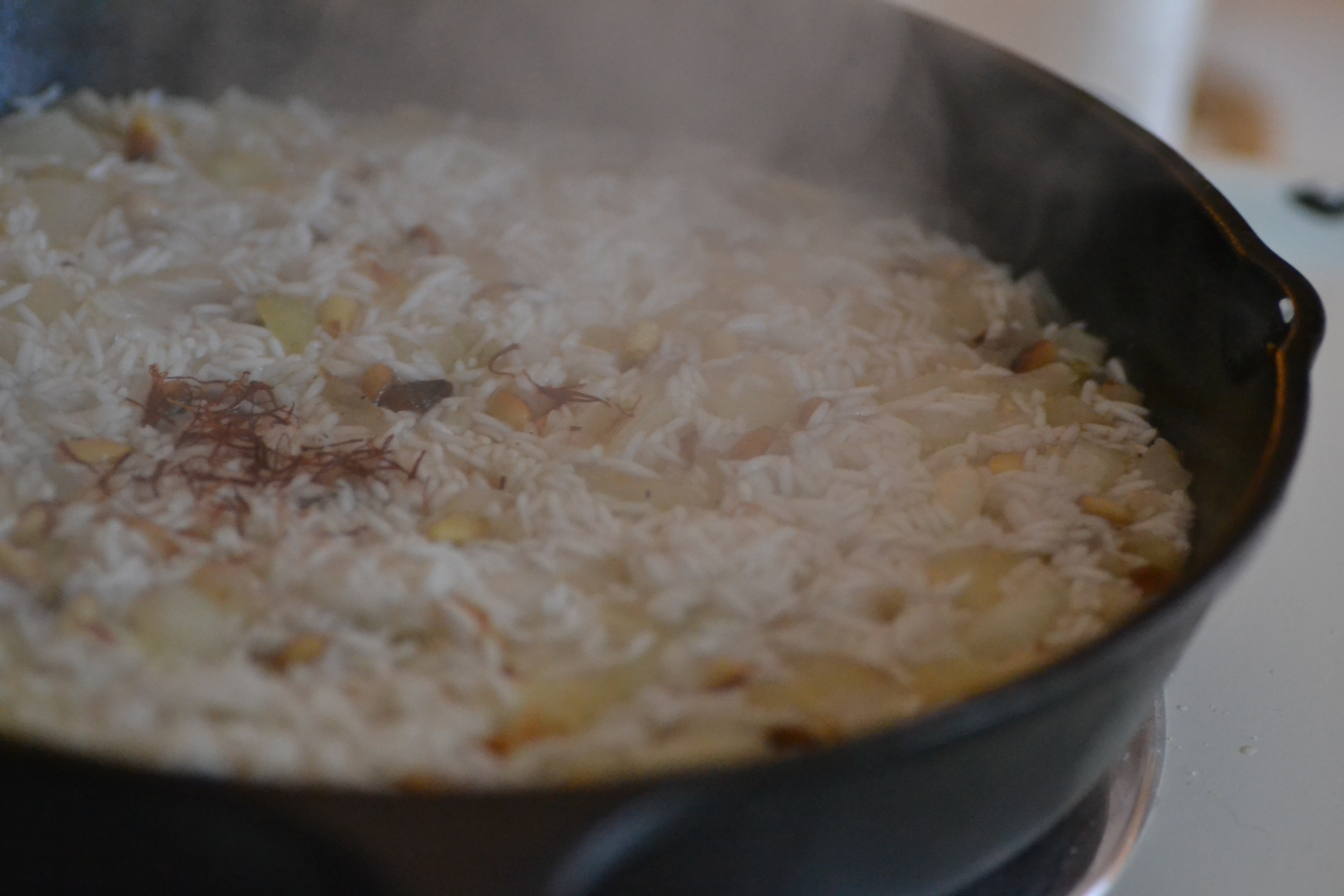 Saffron Rice with Golden Raisins and Pine Nuts - Warm ...
