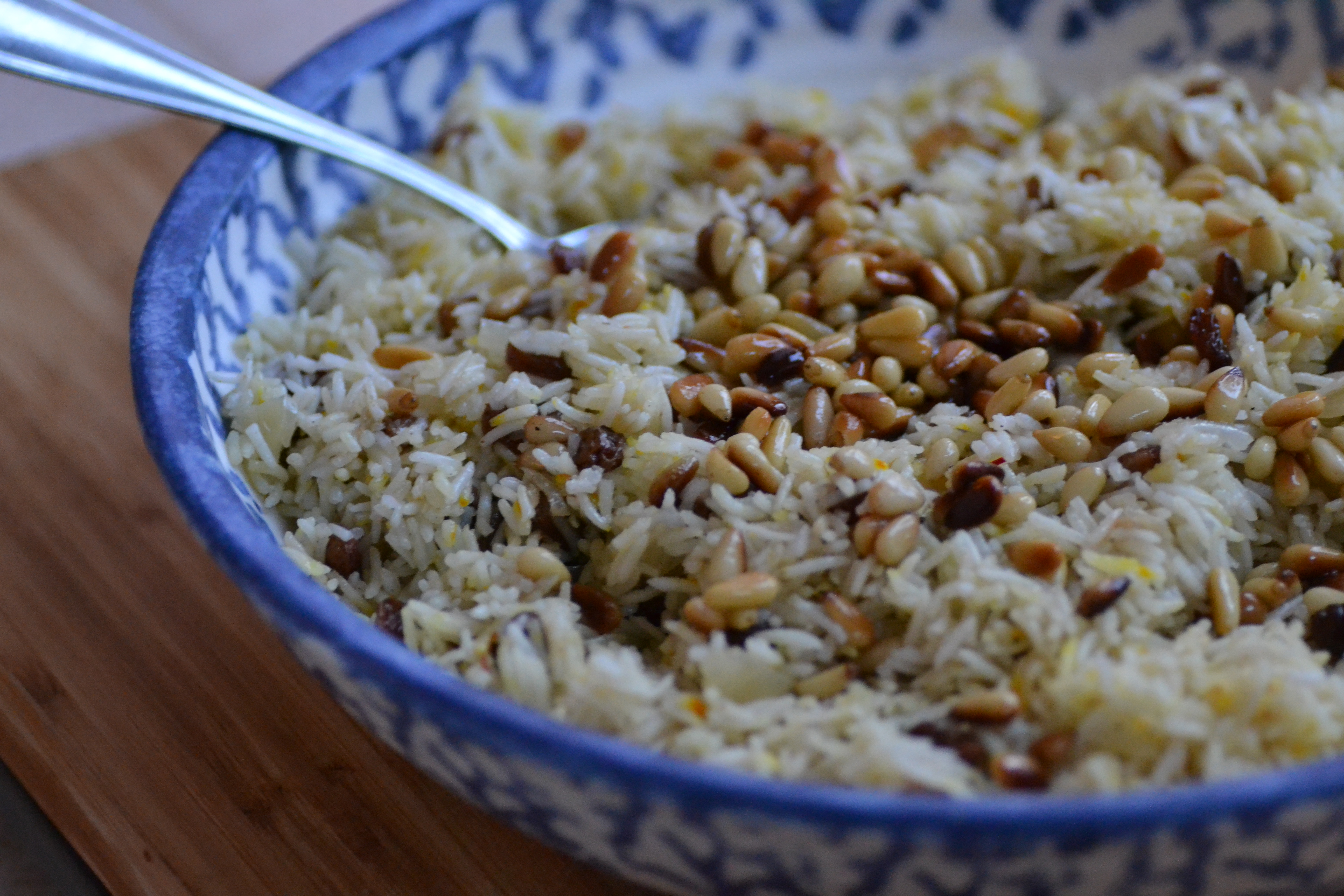 Saffron Rice with Golden Raisins and Pine Nuts – Warm Vanilla Sugar